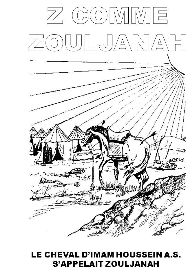 LE CHEVAL DIMAM HOUSSEIN A.S. SAPPELAIT ZOULJANAH