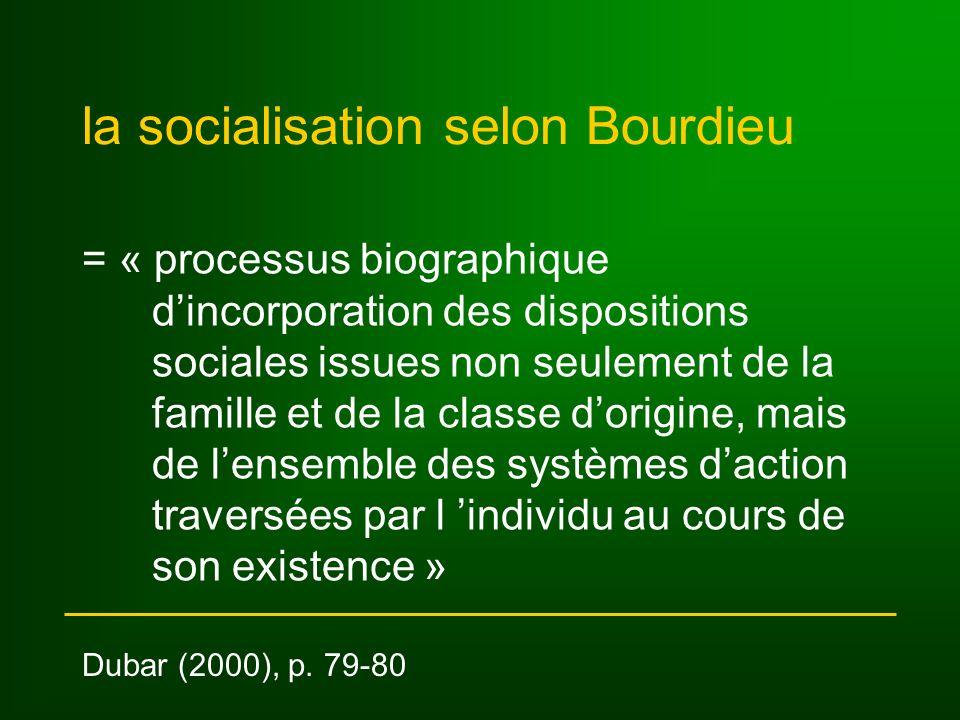 critique centrale la théorie de la socialisation comme incorporation des habitus demeure une théorie de la reproduction sociale plutôt quune théorie du changement social cf.