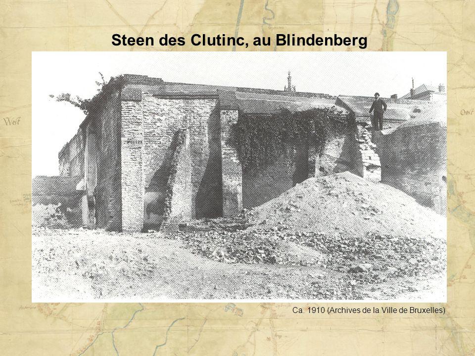 Steen des Clutinc, au Blindenberg Ca. 1910 (Archives de la Ville de Bruxelles)