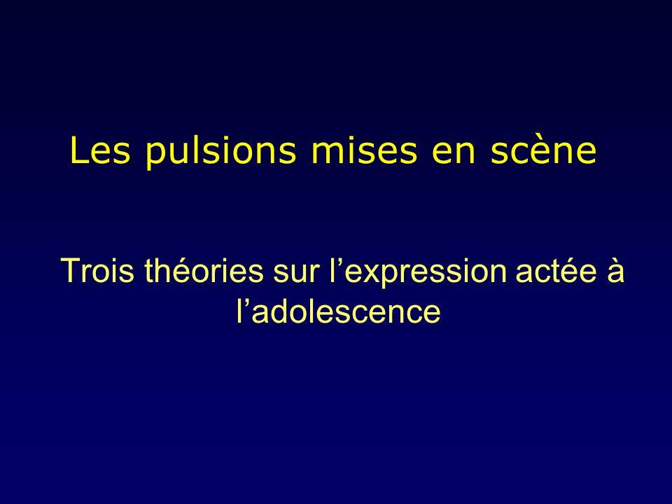 Les pulsions mises en scène Trois théories sur lexpression actée à ladolescence