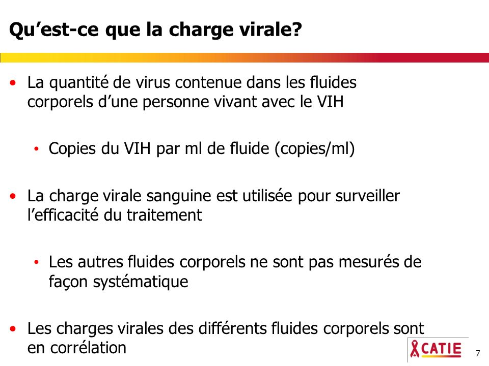 7 Quest-ce que la charge virale.