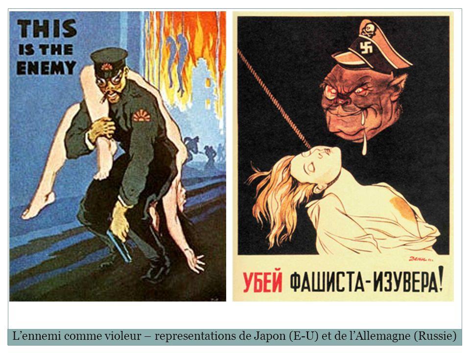 Lennemi comme violeur – representations de Japon (E-U) et de lAllemagne (Russie)