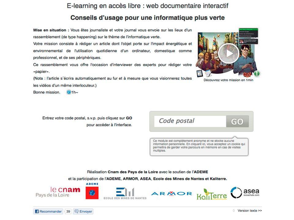 Le web documentaire comme support dapprentissage dans lenseignement supérieur sur la base de web documentaires existants Exemple : http://www.informat