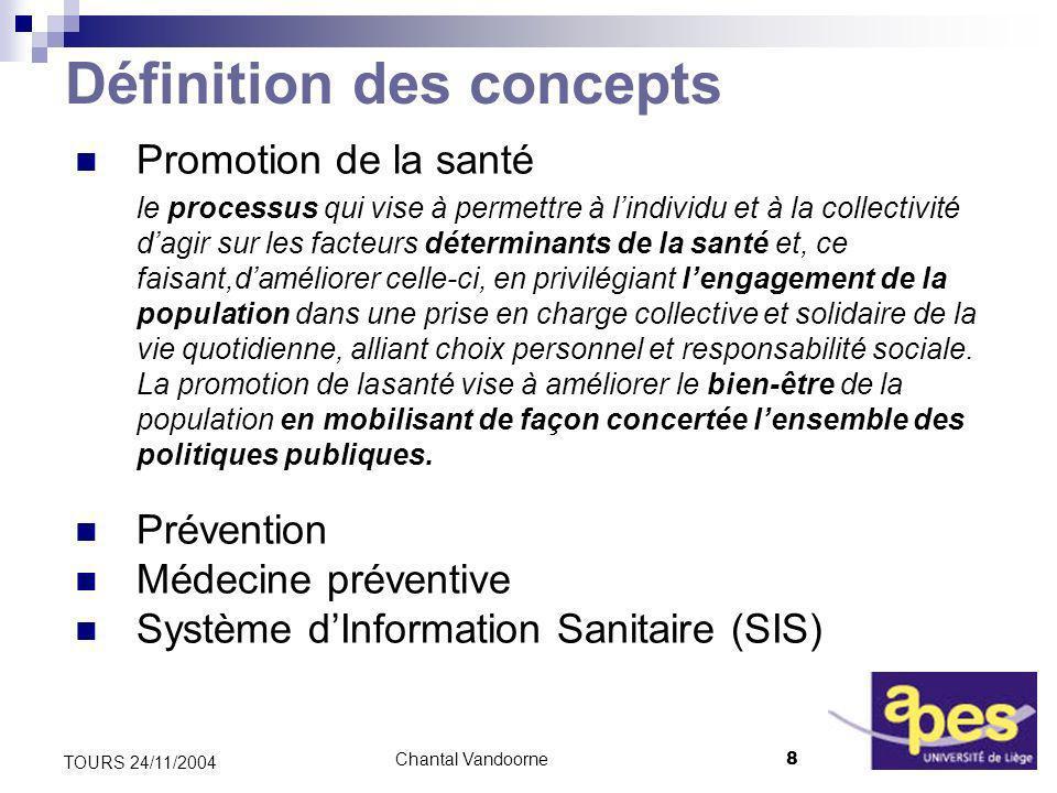 Chantal Vandoorne19 TOURS 24/11/2004 Priorités du P 5 « 2004-2008 » (II) Des acteurs prioritaires 1.