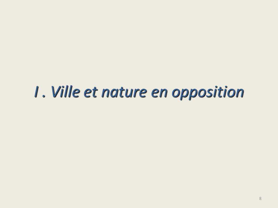 I. Ville et nature en opposition 8