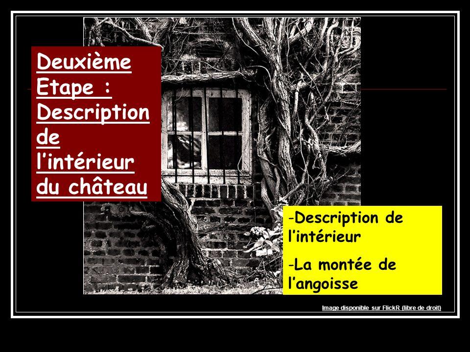 Deuxième Etape : Description de lintérieur du château -Description de lintérieur -La montée de langoisse Image disponible sur FlickR (libre de droit)