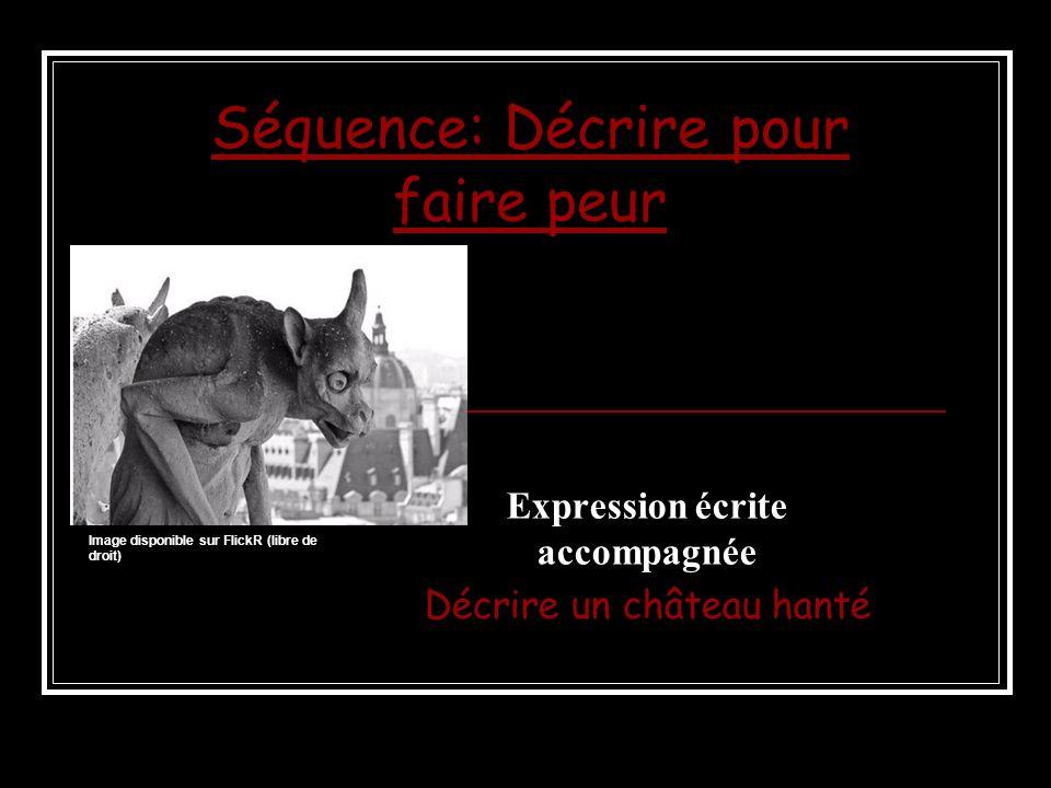 Séquence: Décrire pour faire peur Expression écrite accompagnée Décrire un château hanté Image disponible sur FlickR (libre de droit)
