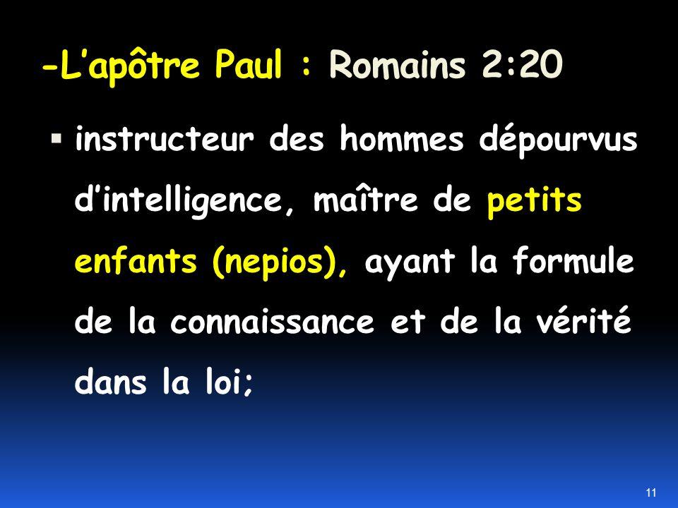 - Limportance du mot choisi par Paul Neaniskos = adolescent Paidion = un jeune enfant, un petit garçon, une petite fille Nepios = bébé 10