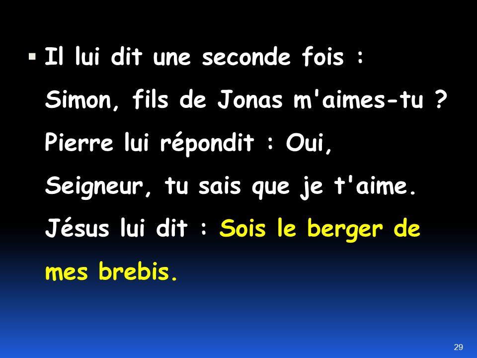 -Lapôtre Pierre Jean 21.15-17 Après qu'ils eurent mangé, Jésus dit à Simon Pierre : Simon, fils de Jonas m'aimes-tu plus que (ne le font) ceux-ci ? Il