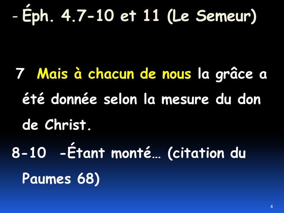 I. -L autorité déléguée par Dieu aux anciens a un but spécifique 3