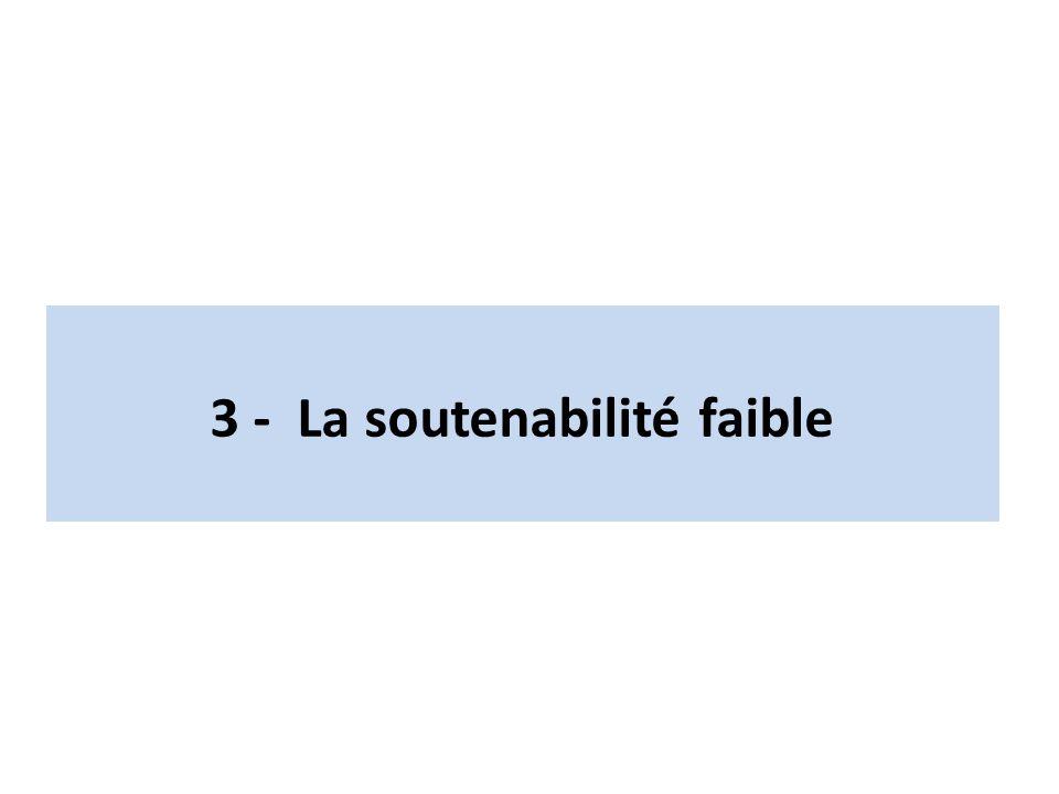 3 - La soutenabilité faible
