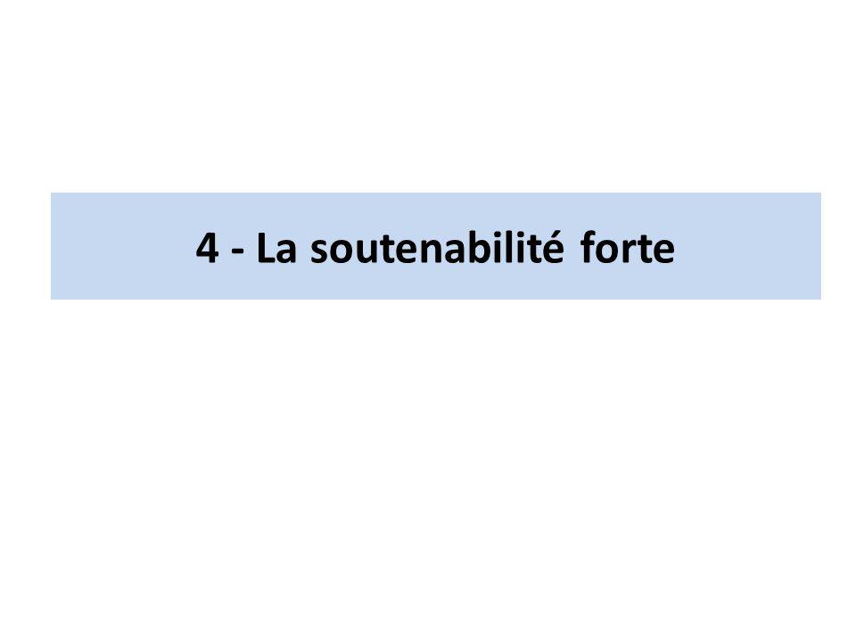 4 - La soutenabilité forte