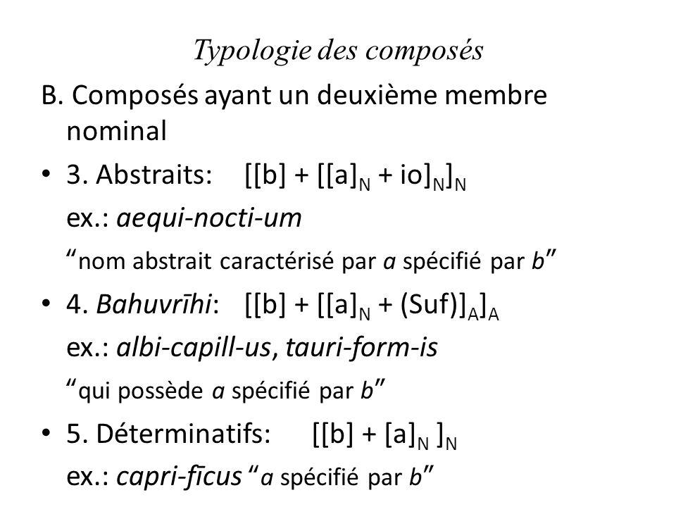 Typologie des composés B.Composés ayant un deuxième membre nominal 3.