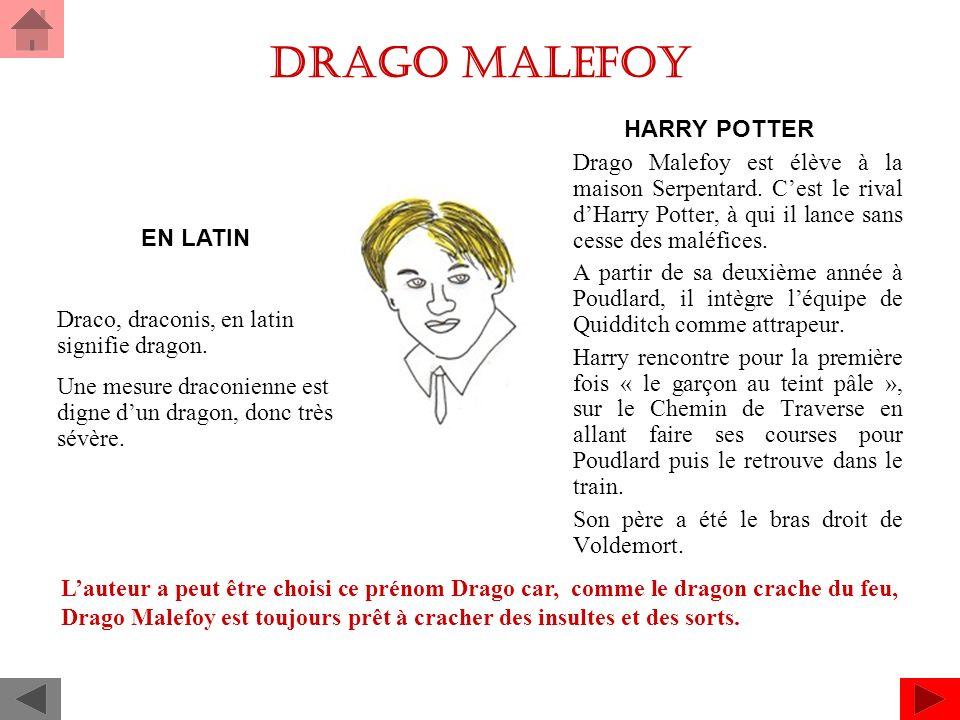 Drago malefoy HARRY POTTER Drago Malefoy est élève à la maison Serpentard.