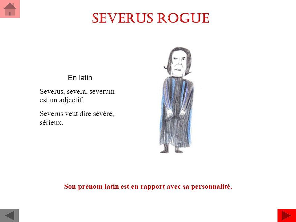 Severus rogue En latin Severus, severa, severum est un adjectif.