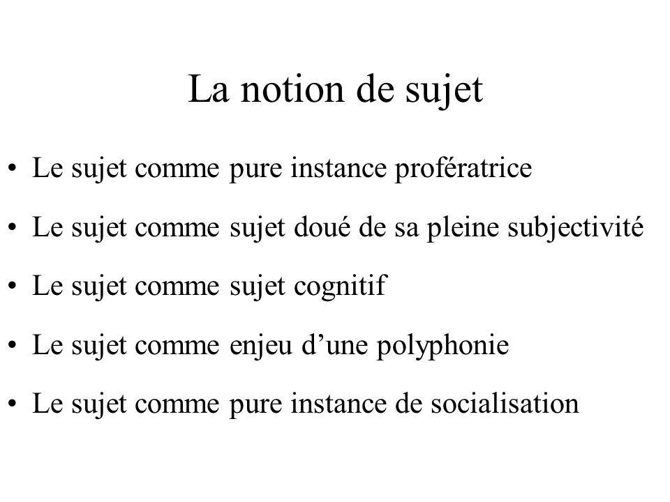 profération / opérations / instructions Lénonciation comme « profération » Lénonciation comme « jeu dopérations » Lénonciation comme « ensemble dinstr