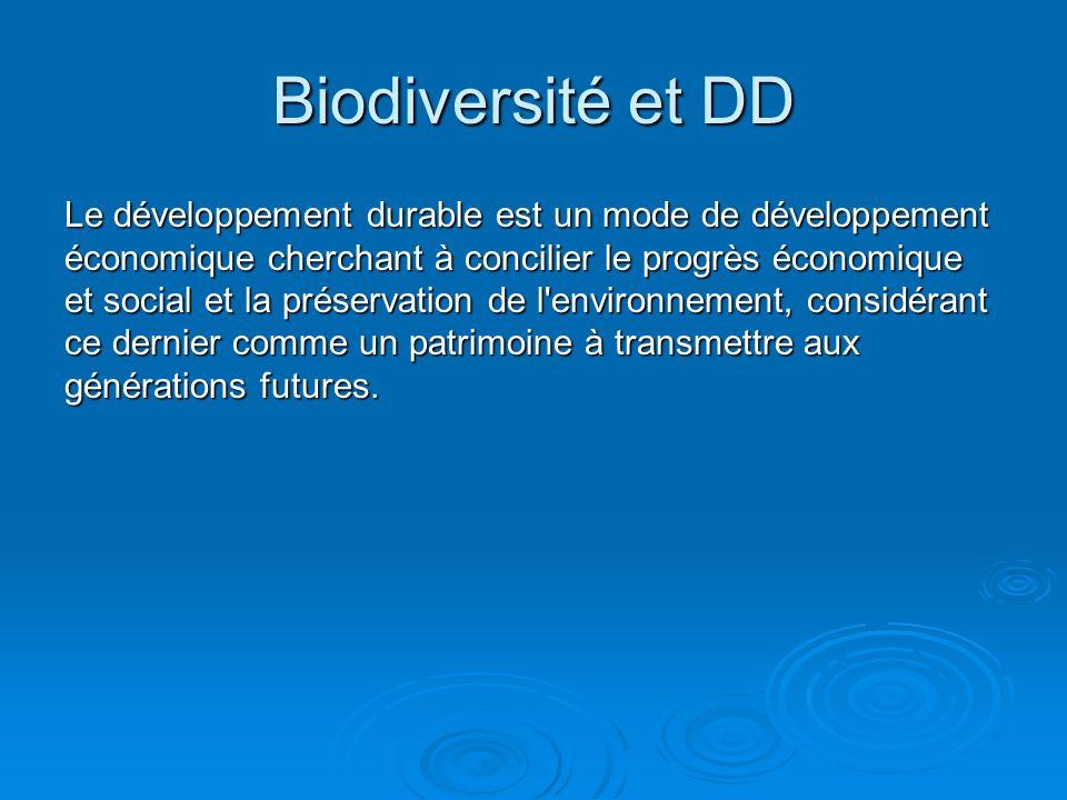 Le développement durable est un mode de développement économique cherchant à concilier le progrès économique et social et la préservation de l'environ