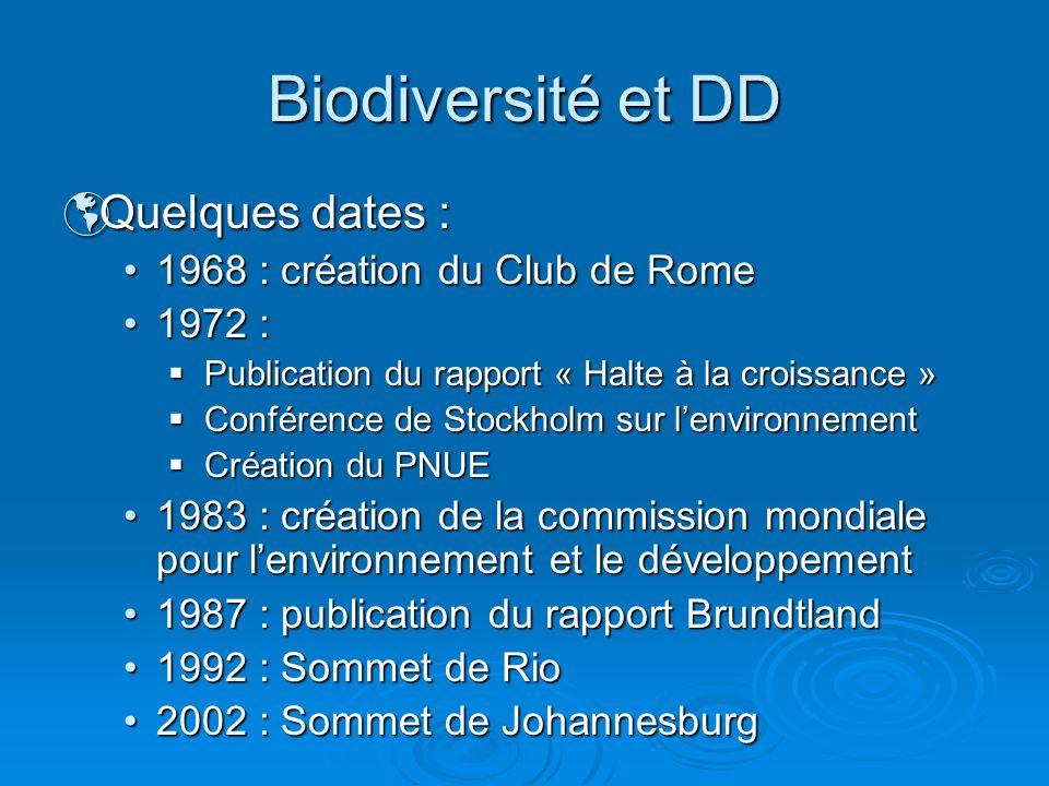 Quelques dates : Quelques dates : 1968 : création du Club de Rome1968 : création du Club de Rome 1972 :1972 : Publication du rapport « Halte à la croi