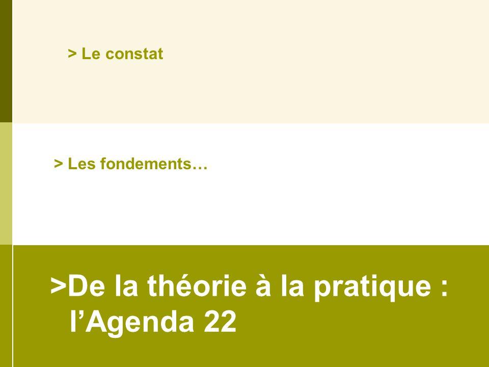 >De la théorie à la pratique : lAgenda 22 > Les fondements… > Le constat