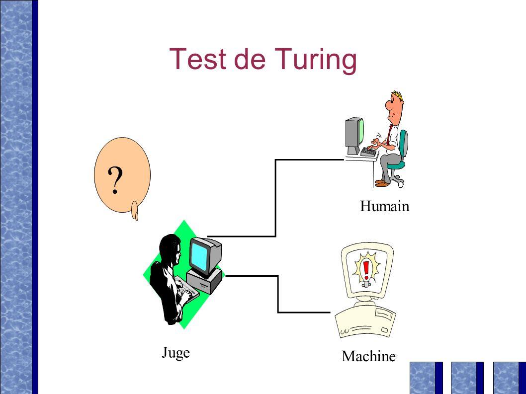 Test de Turing Juge Machine Humain ?