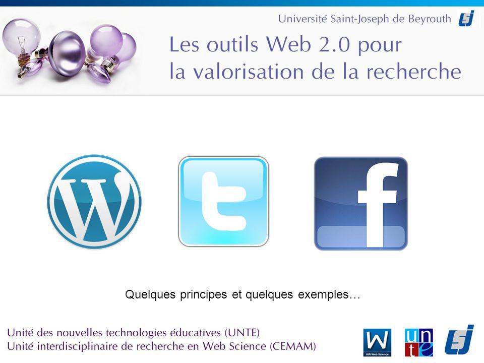 Caractéristiques des outils Web 2.0 –Le web comme plateforme –La longue traîne –Lintelligence collective –La corne dabondance des foules (Crowdsourcing)