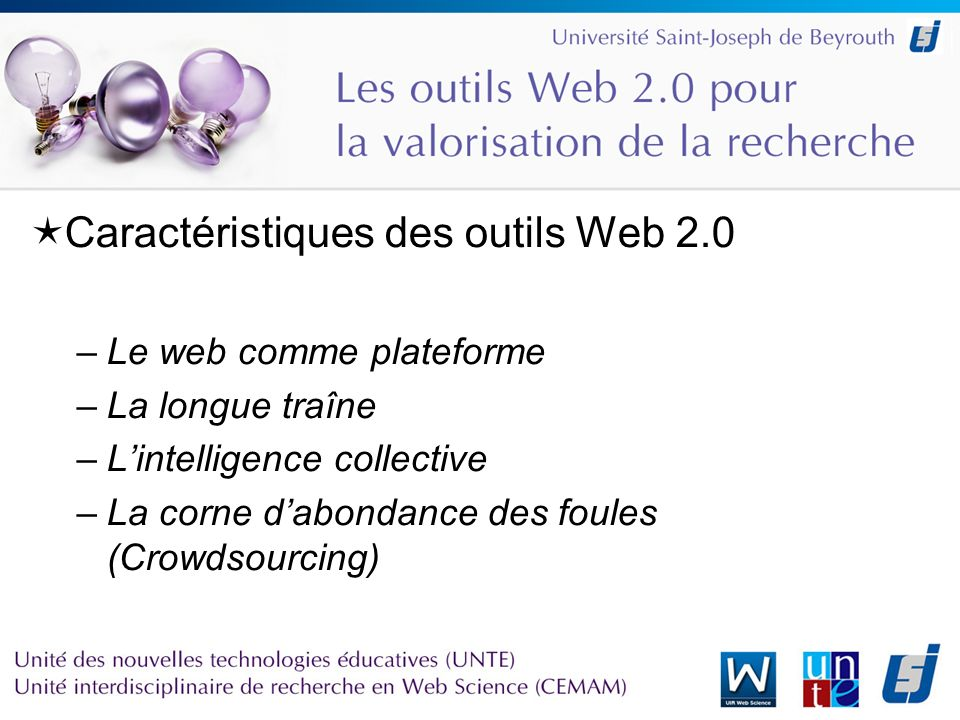 La communauté scientifique face au Web 2.0 Editeurs –Elsevier : 2collab –Springer : Cite U like et Author Mapper