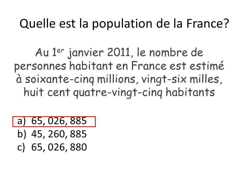 Quelle est la population de la France.