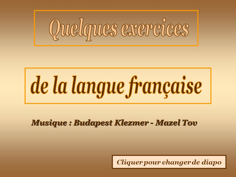 Musique : Budapest Klezmer - Mazel Tov Cliquer pour changer de diapo