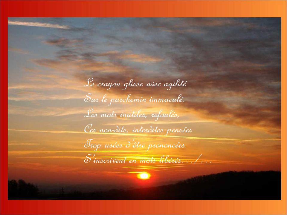 Splendide ton lever ou ton coucher… Diaporama de Gi Comme : sur un poème dYvonne Ollier
