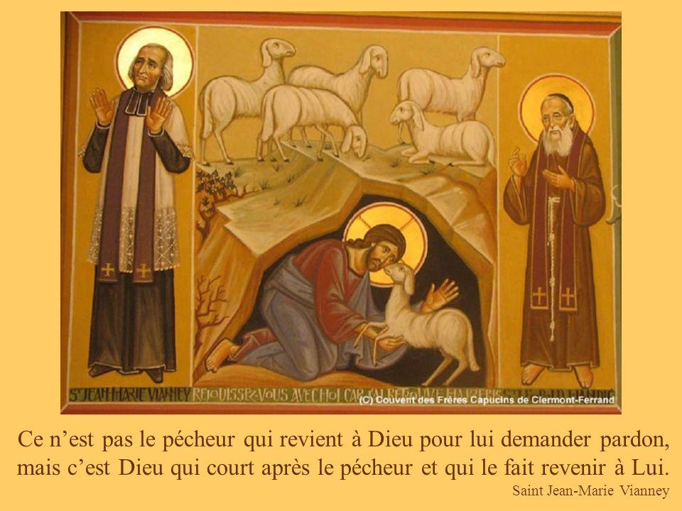 Cest parce que la face de Jésus était sale que Véronique lessuya ; cest parce quun homme était par terre que le bon Samaritain le prit dans ses bras.