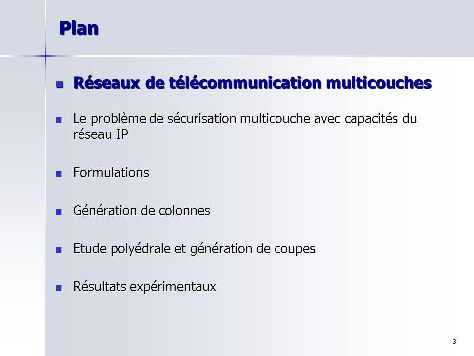 14 Formulation Arcs-Chemins Le problème MCSIPND peut être formulé comme suit :