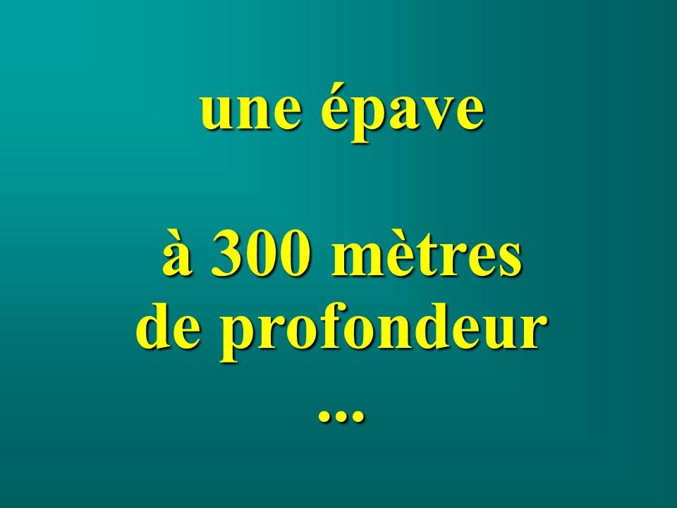 une épave à 300 mètres de profondeur...