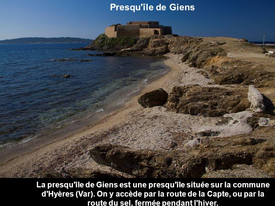 Presqu île de Giens La presqu île de Giens est une presqu île située sur la commune d Hyères (Var).