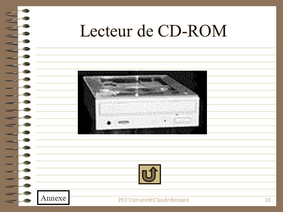 PCI Université Claude Bernard26 Lecteur de CD-ROM Annexe