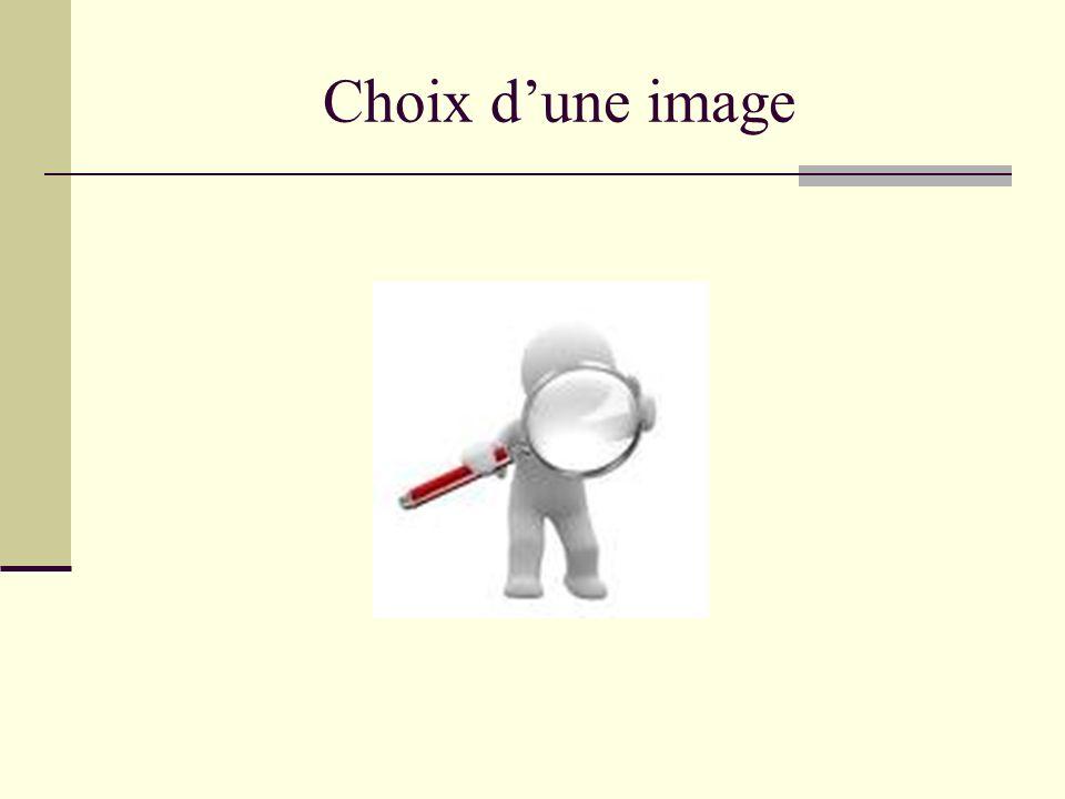 Choix dune image