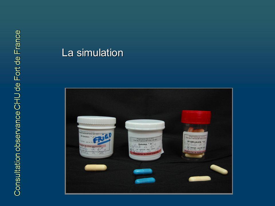 La simulation Consultation observance CHU de Fort de France