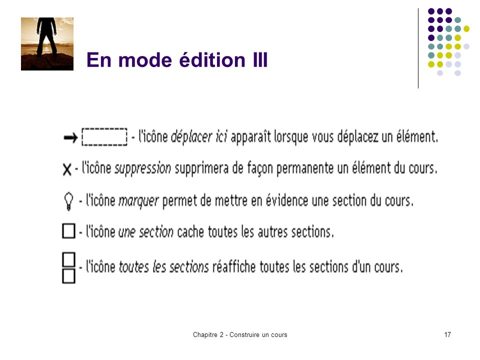 Chapitre 2 - Construire un cours17 En mode édition III