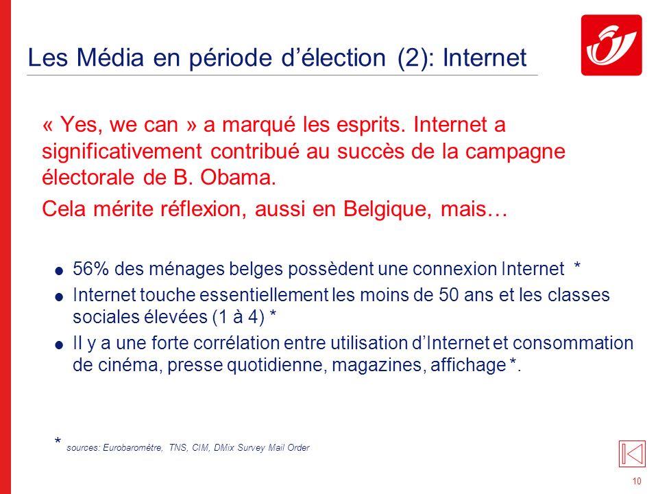 10 Les Média en période délection (2): Internet « Yes, we can » a marqué les esprits.