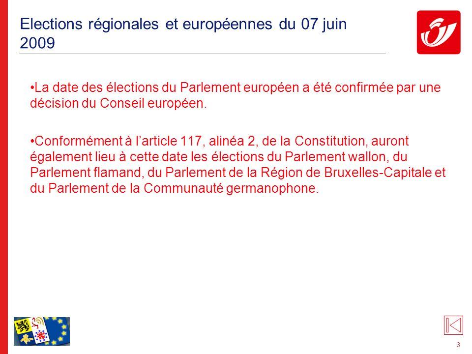 3 Elections régionales et européennes du 07 juin 2009 La date des élections du Parlement européen a été confirmée par une décision du Conseil européen.