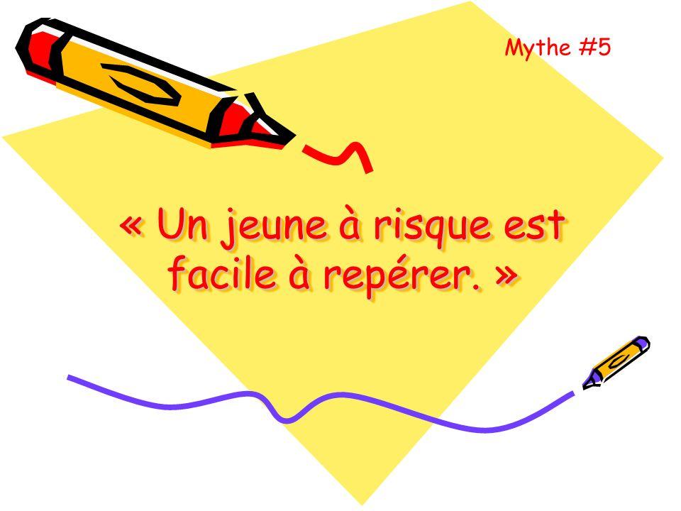 « La prévention, cest dabord laffaire de lécole Mythe #4