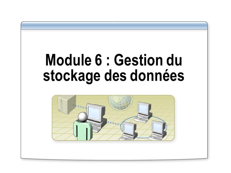 Module 6 : Gestion du stockage des données