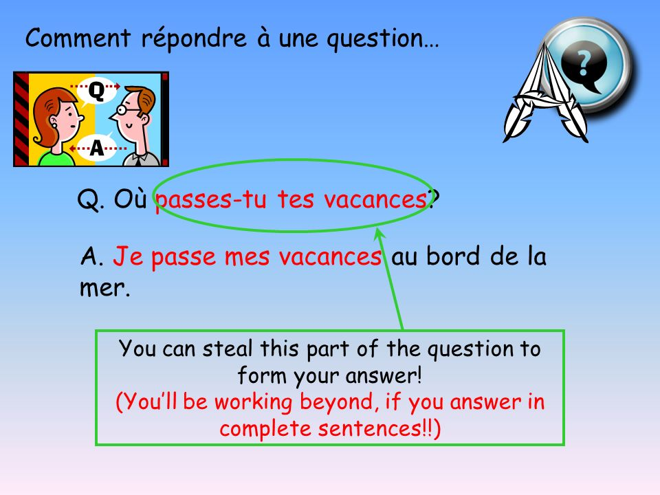 Les mots pour poser une question… 1 When.2 Where.
