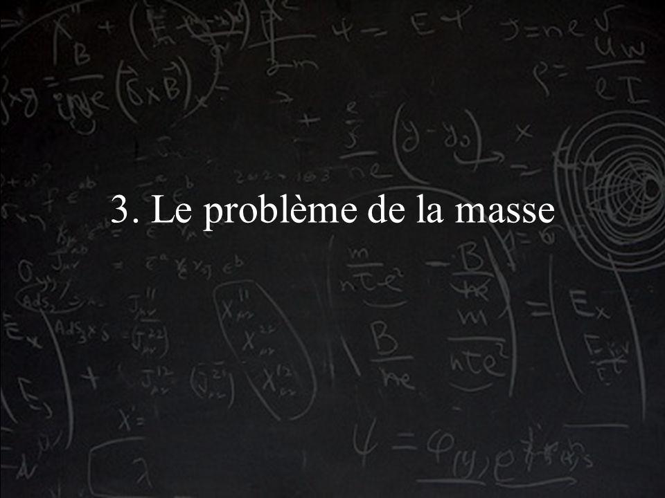 3. Le problème de la masse
