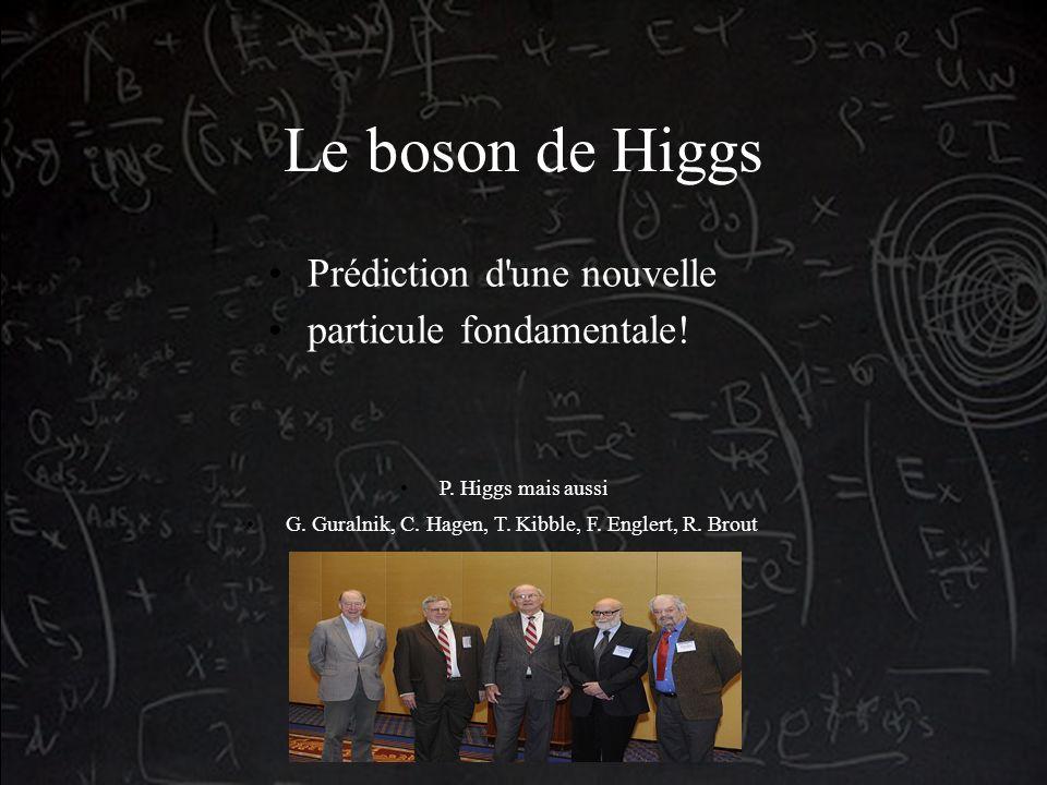 Le boson de Higgs Prédiction d une nouvelle particule fondamentale.