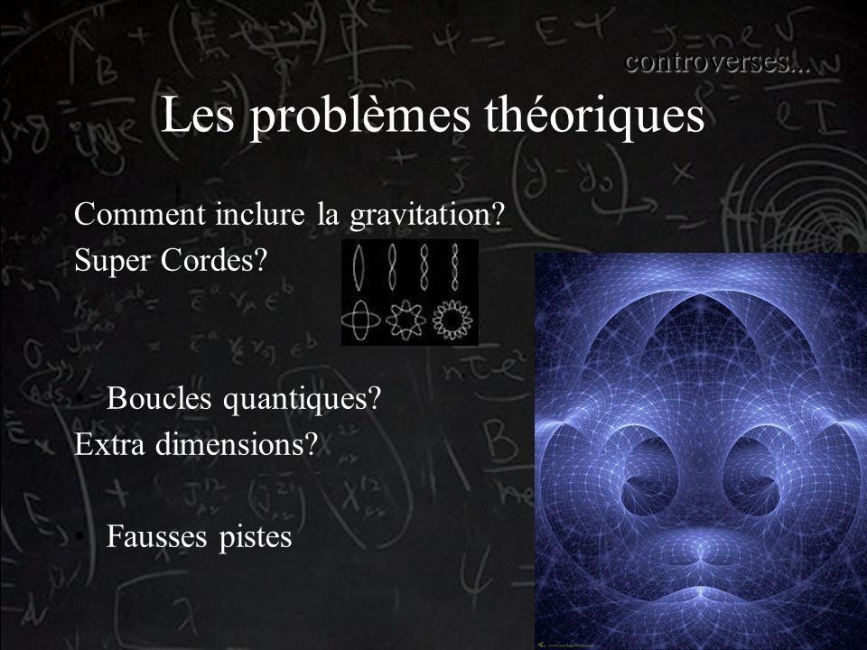 Les problèmes théoriques Comment inclure la gravitation.