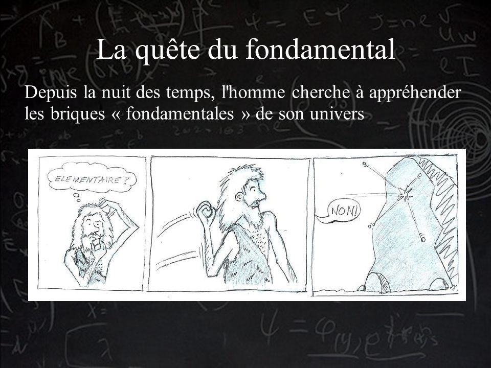 La quête du fondamental Depuis la nuit des temps, l homme cherche à appréhender les briques « fondamentales » de son univers