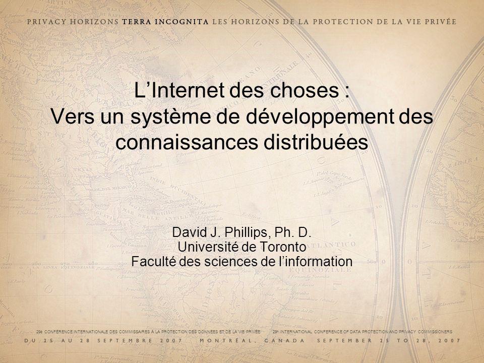 LInternet des choses : Vers un système de développement des connaissances distribuées David J.