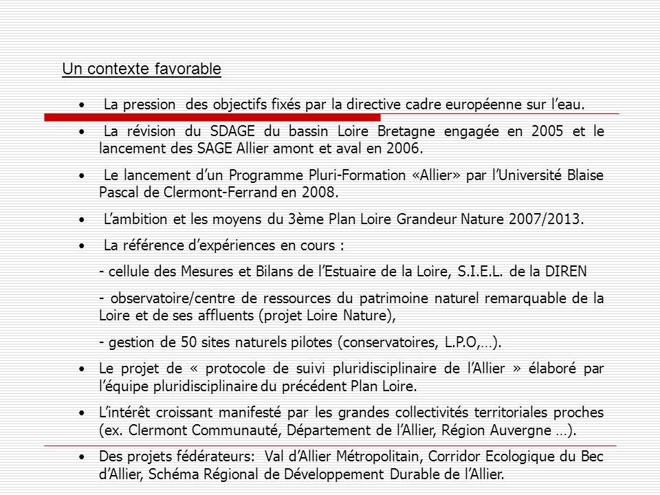 Une certaine urgence Lengagement de la réalisation du 3ème Plan Loire Grandeur Nature 2007/2013 ( Bassin de la Loire : un territoire à vivre ensemble, des ambitions à partager).
