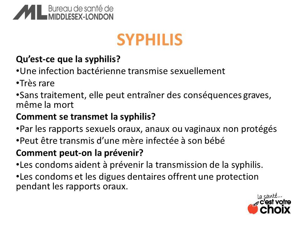 SYPHILIS Quest-ce que la syphilis.