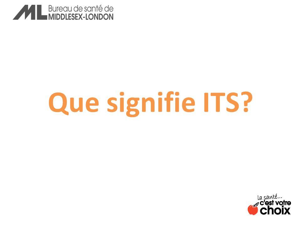 ITS = infections transmissibles sexuellement La plupart des ITS nentraînent aucun symptôme Une personne peut avoir une ITS sans le savoir.